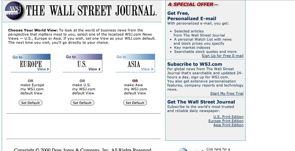 Webby Award Nominee - Wall Street Journal