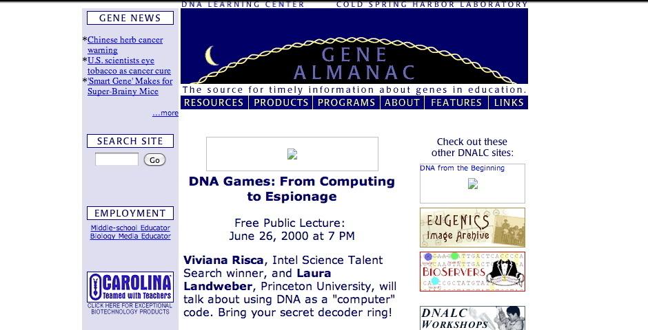 Webby Award Nominee - DNA Learning Center