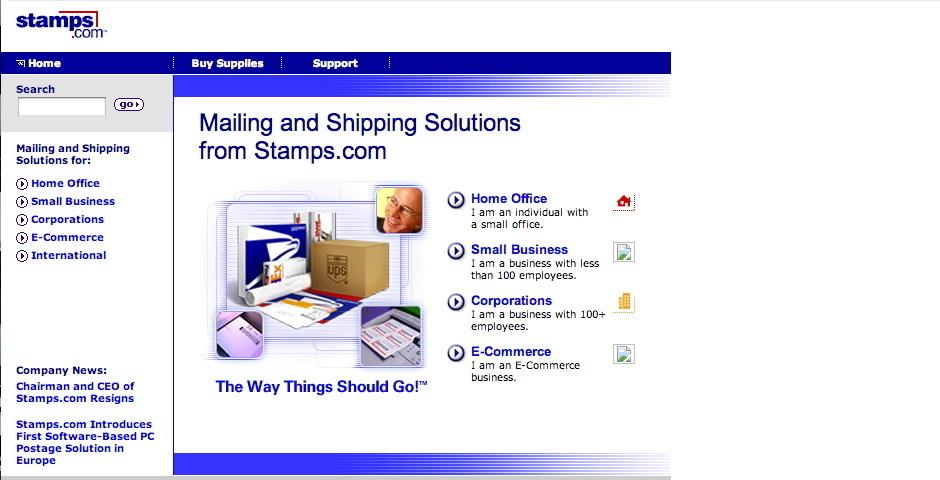 Webby Award Nominee - Stamps.com