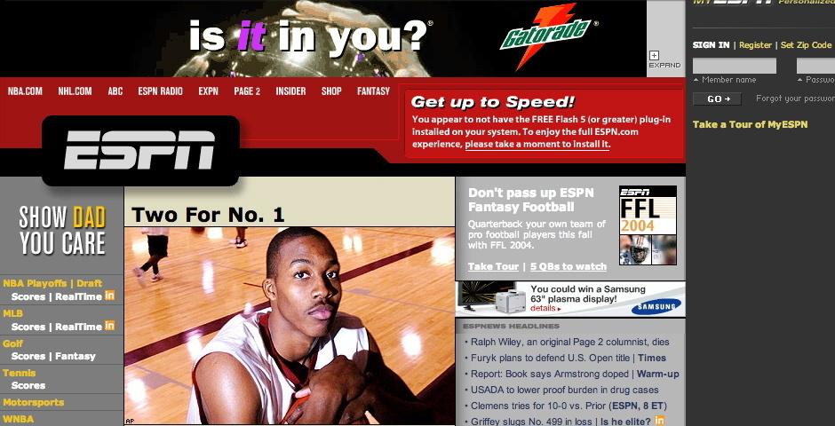 2004 Webby Winner - ESPN.com