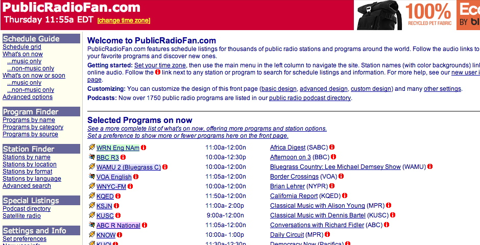 Nominee - PublicRadioFan.com