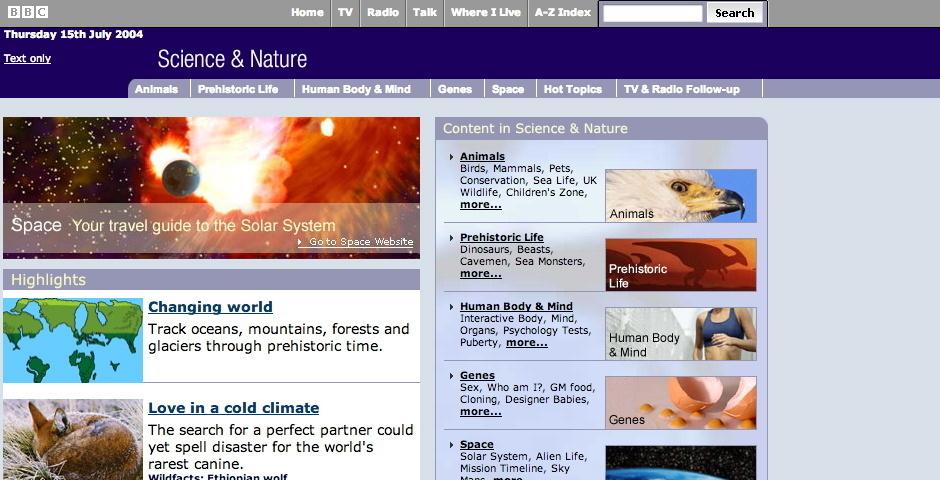 Webby Award Nominee - BBC - Science & Nature