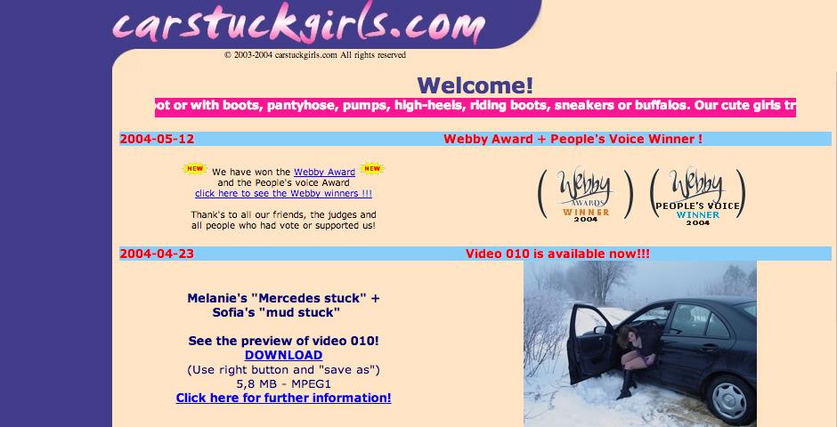 People's Voice / Webby Award Winner - Car Stuck Girls