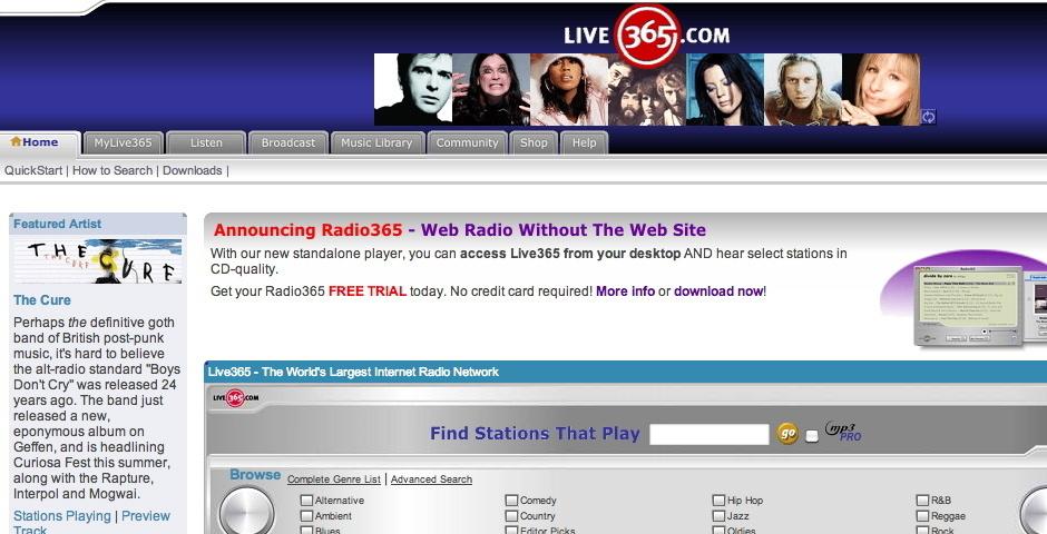 2004 Webby Winner - Live365 - The World\'s Largest Internet Radio Network