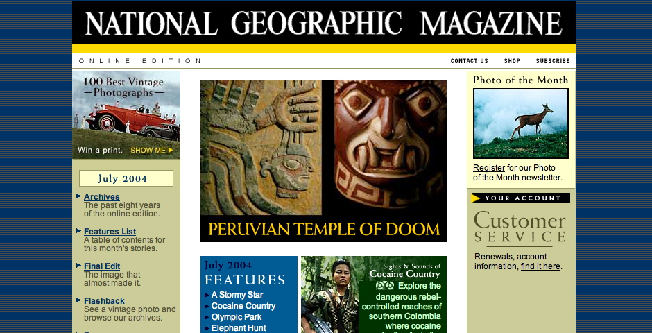 People's Voice - National Geographic: Online Edition