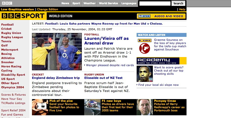 2004 Webby Winner - BBC Sport