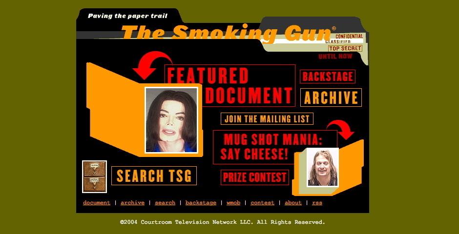 2004 Webby Winner - TheSmokingGun