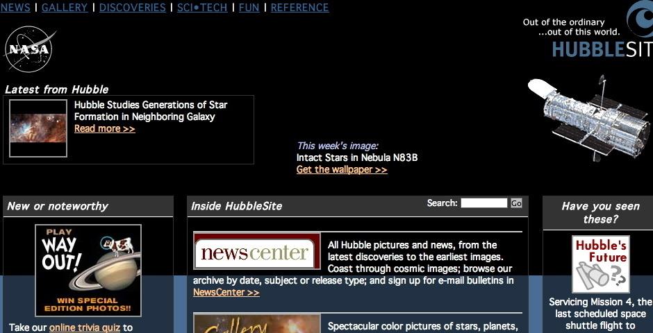 Webby Award Nominee - Hubble Space Telescope