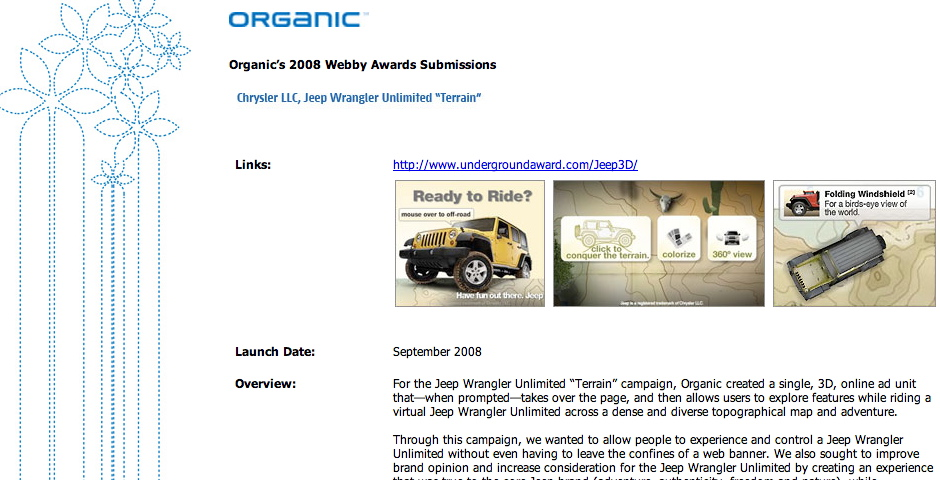 Nominee - Chrysler: Jeep Wrangler Unlimited Terrain