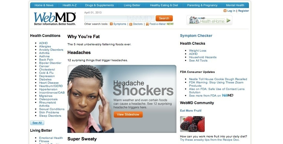2009 Webby Winner - WebMD Health