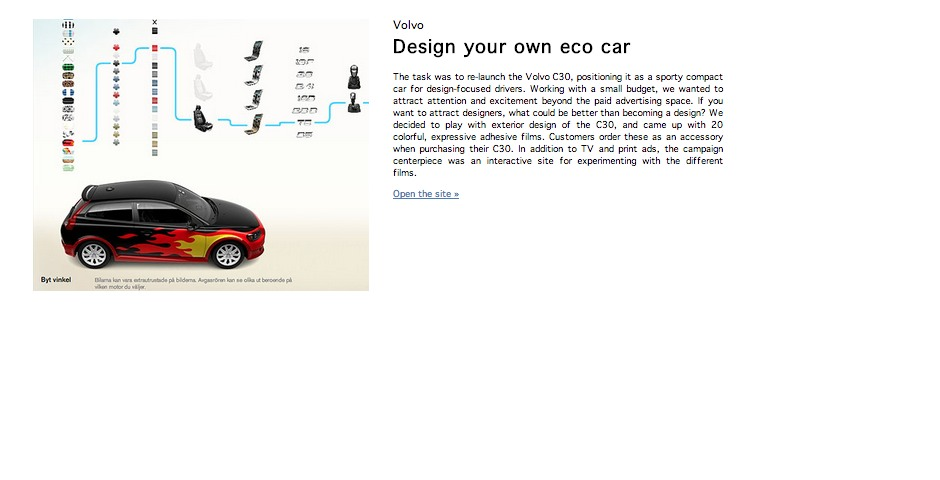 Nominee - Design your own eco-car
