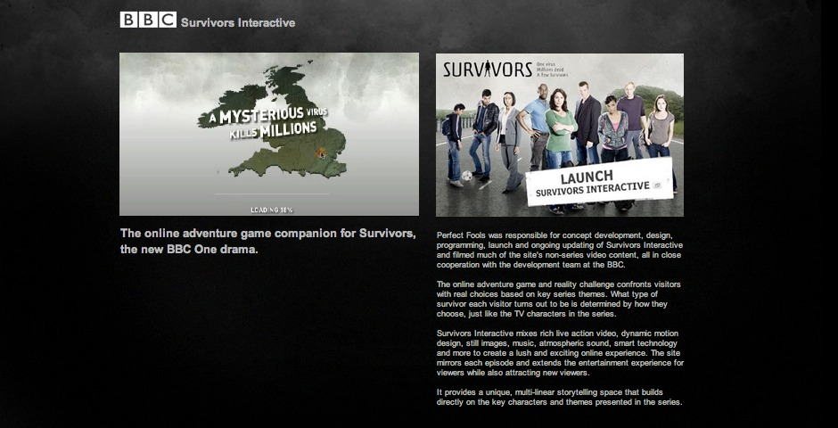 Nominee - BBC Survivors Interactive