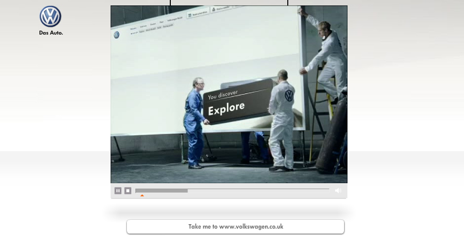 Nominee - Volkswagen UK Website Launch Promotional Video