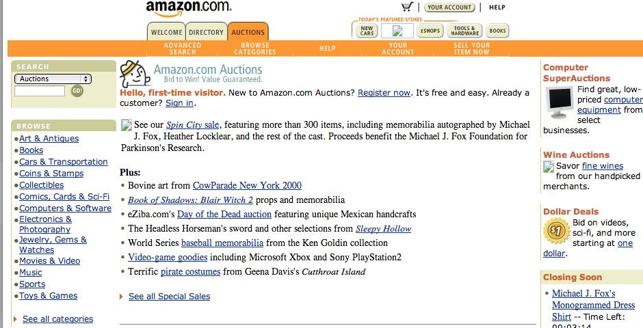 1999 Webby Winner - Amazon.com