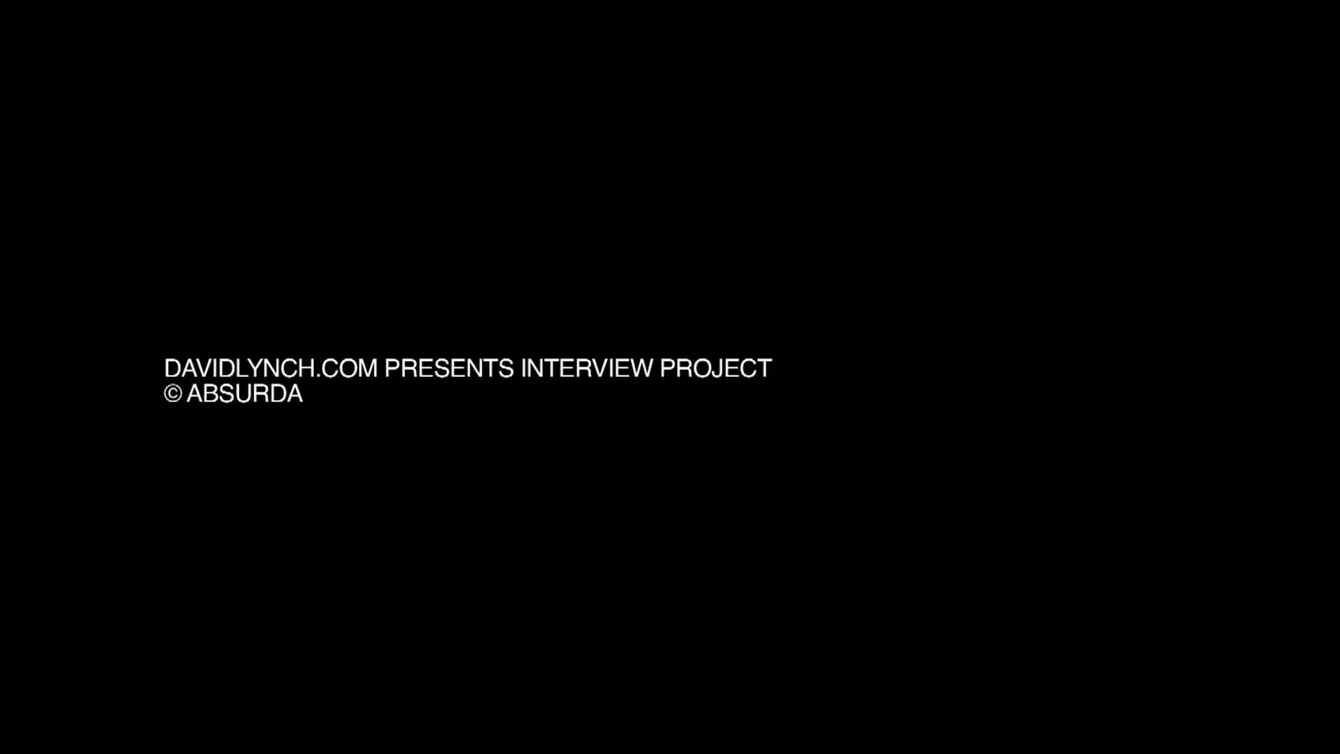 People's Voice / Webby Award Winner - David Lynch Interview Project