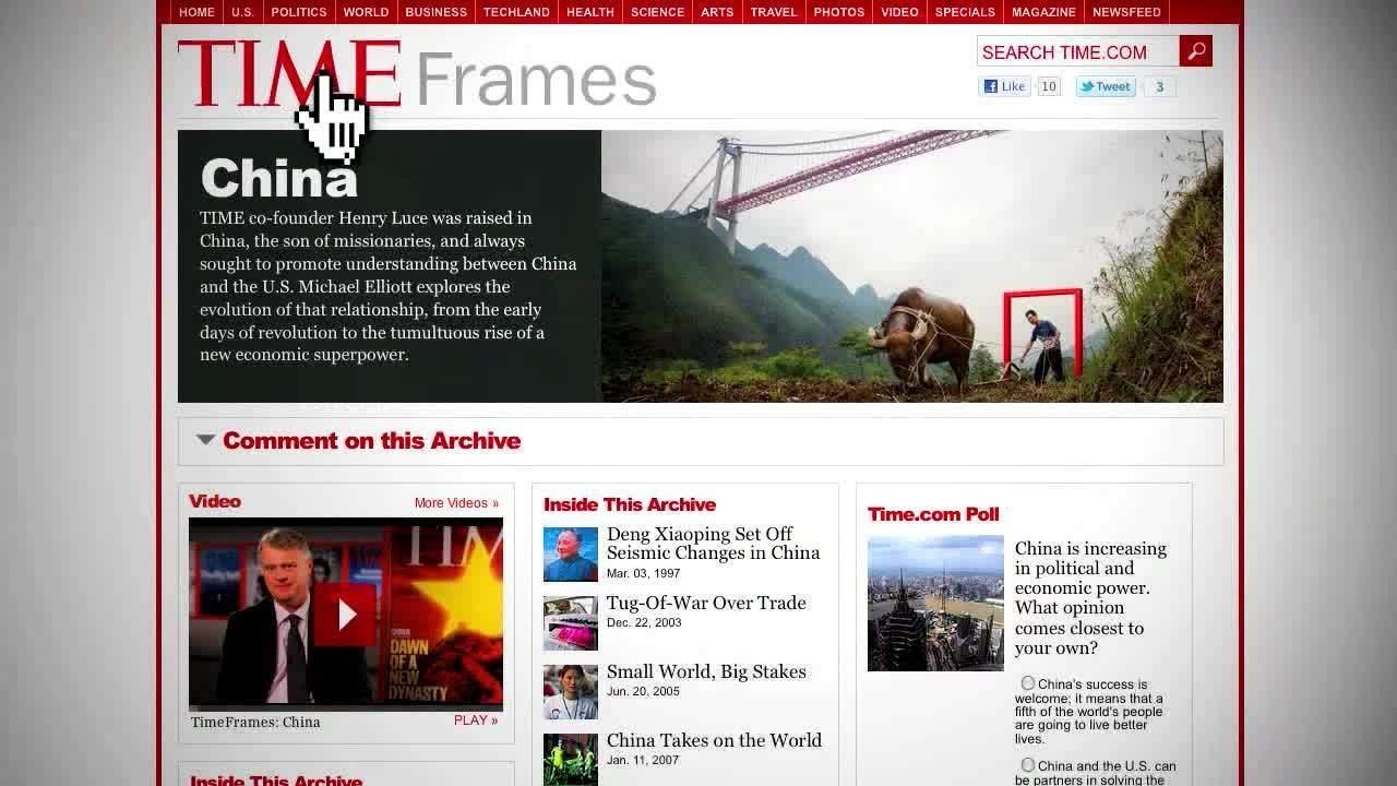 Webby Award Nominee - TIME Frames: China