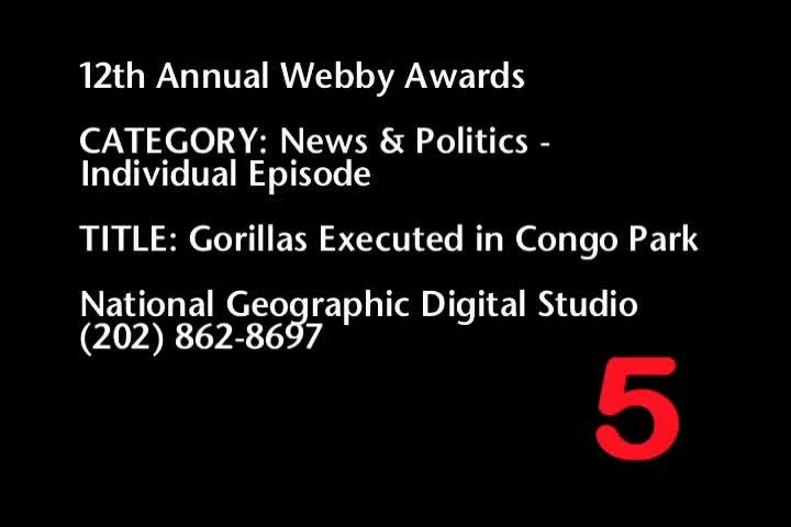 Nominee - Gorillas Executed in Congo Park
