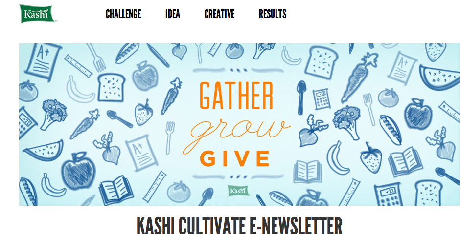 Nominee - Kashi Cultivate e-Newsletter