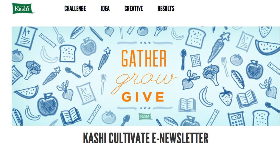 Webby Award Nominee - Kashi Cultivate e-Newsletter
