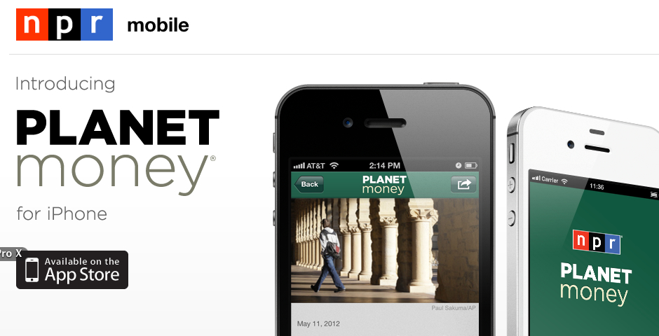 Nominee - NPR Planet Money for iPhone