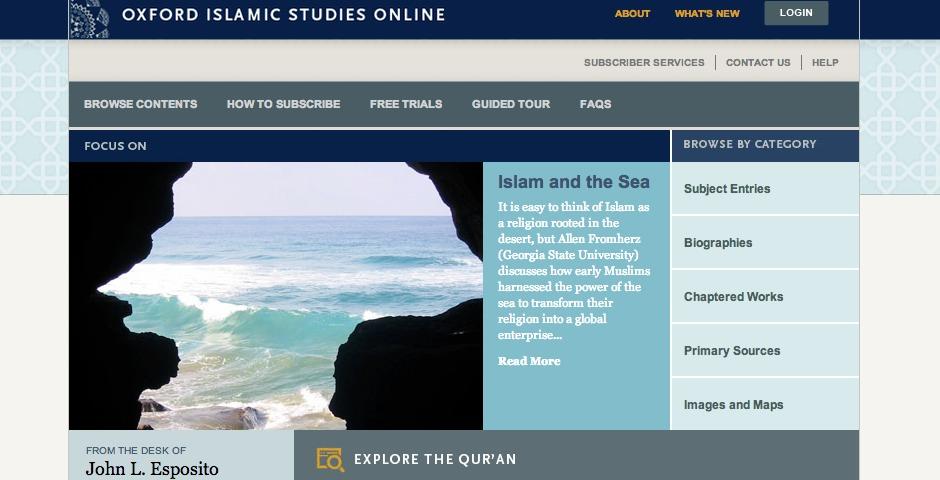 Nominee - Oxford Islamic Studies Online