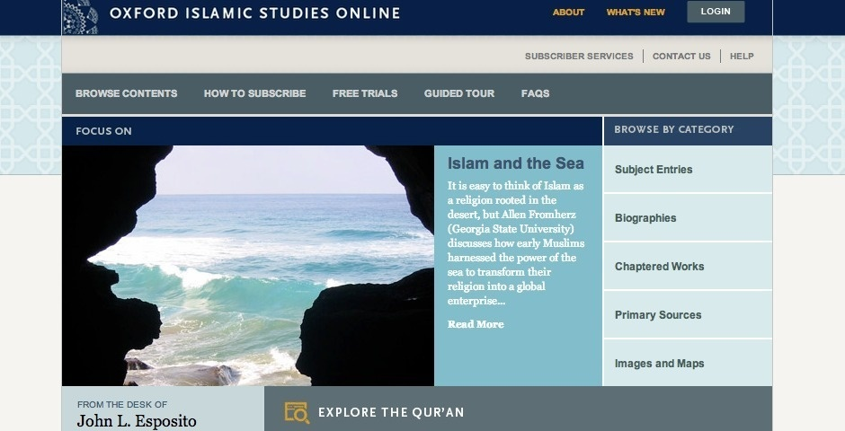 Webby Award Nominee - Oxford Islamic Studies Online