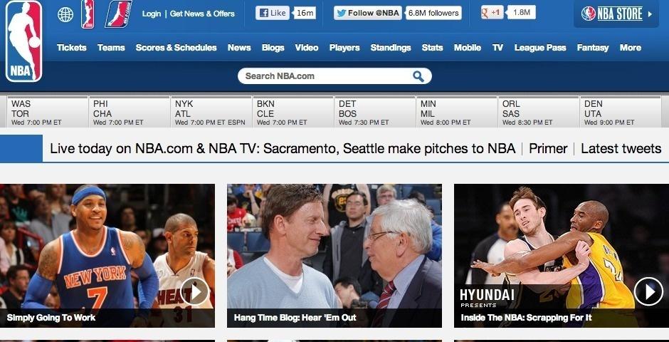 Webby Award Nominee - NBA.com