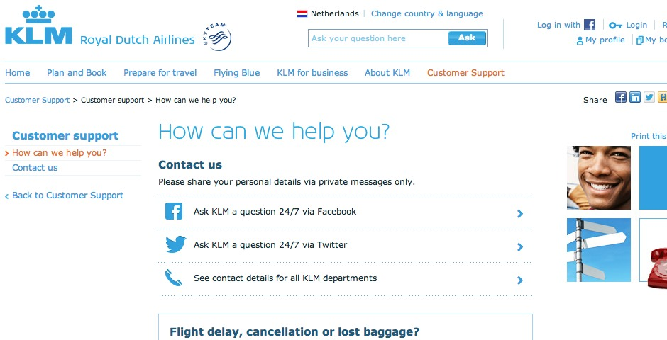 Nominee - KLM Customer Service