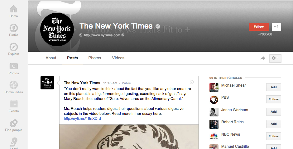People's Voice / Webby Award Winner - The New York Times