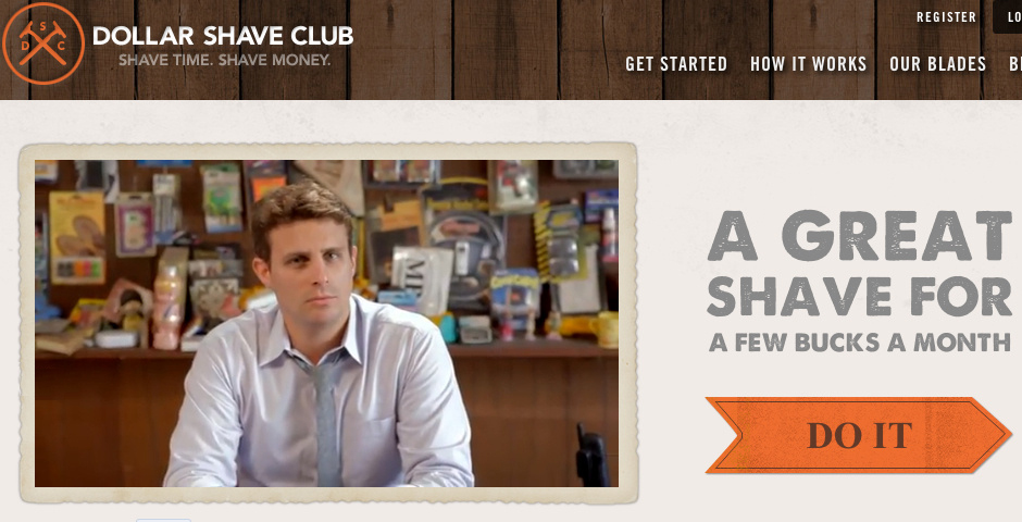Webby Award Winner - DOLLAR SHAVE CLUB WEBSITE