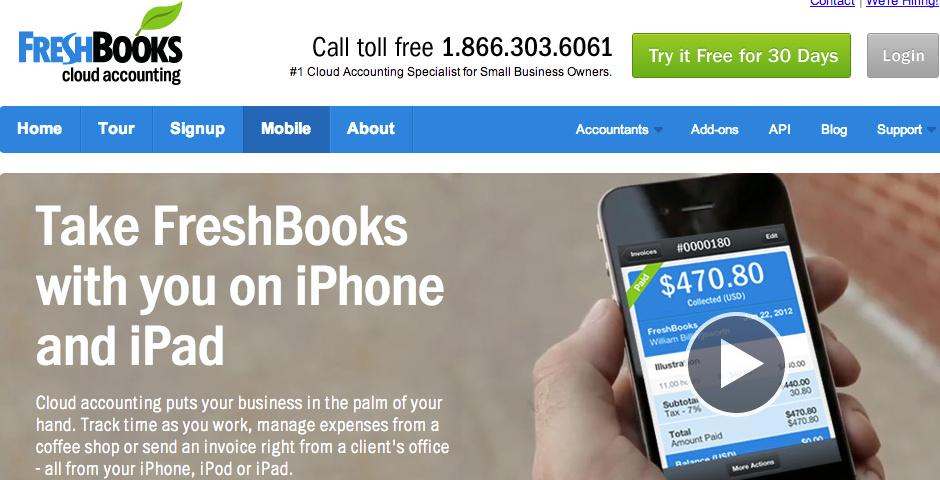 Webby Award Nominee - FreshBooks Cloud Accounting