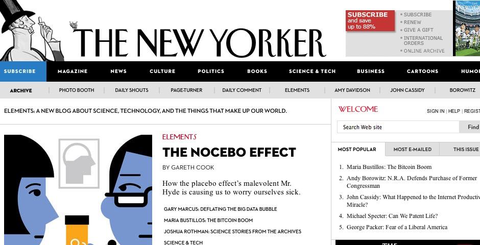 Webby Award Winner - The New Yorker