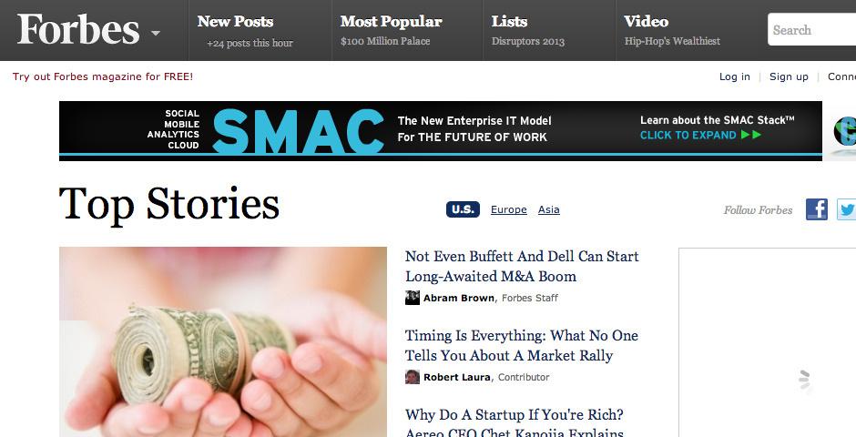 2013 Webby Winner - Forbes Media