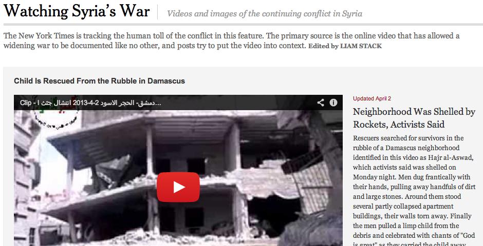 Nominee - Watching Syria's War