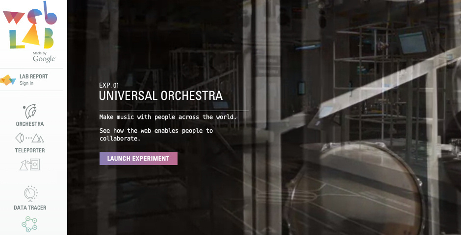 2013 Webby Winner - Chrome Web Lab