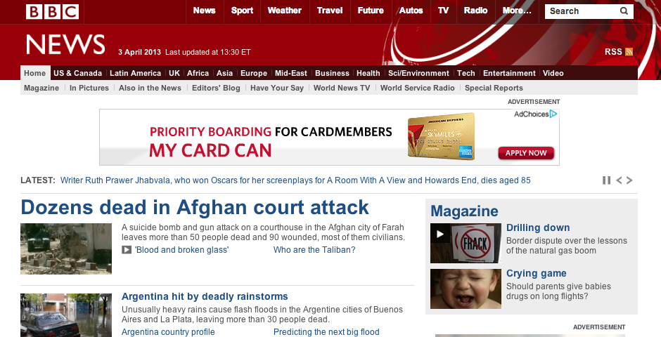 Nominee - BBC News website