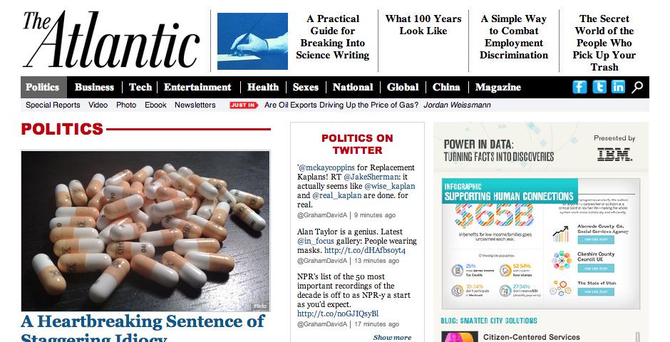 Webby Award Nominee - The Atlantic Politics