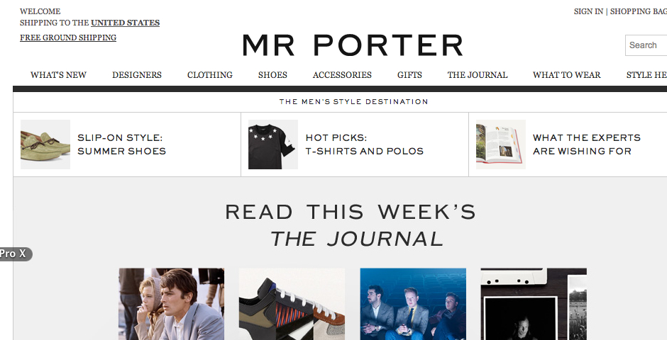 Nominee - MR PORTER.COM