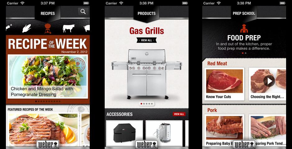 Webby Award Winner - Weber Free App