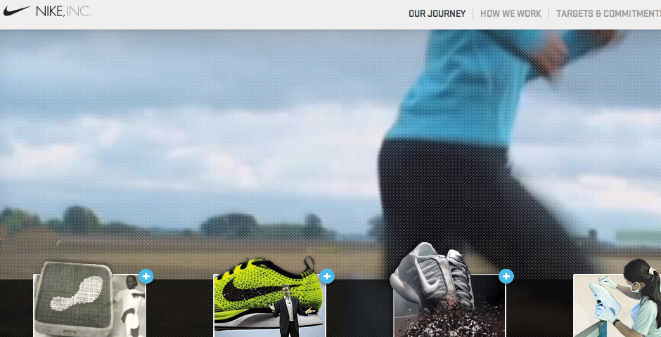 Webby Award Nominee - Nike Corporate Responsibility Site