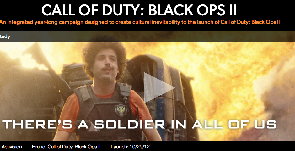 2013 Webby Winner - Activision, Call of Duty: Black Ops II