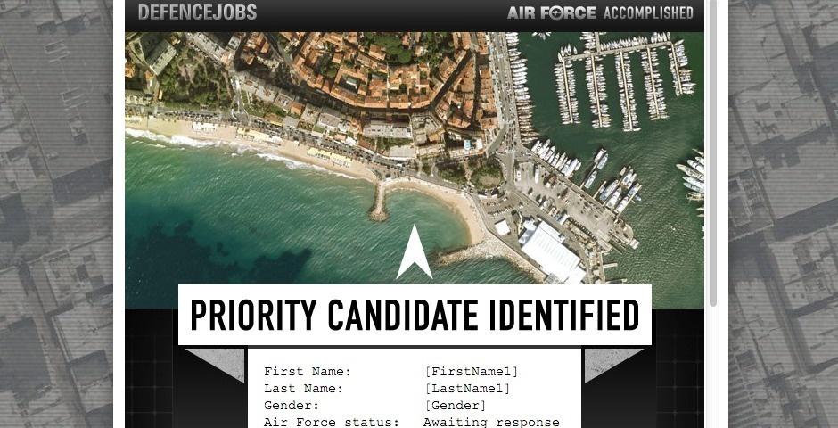 2013 Webby Winner - Air Force Priority eDM