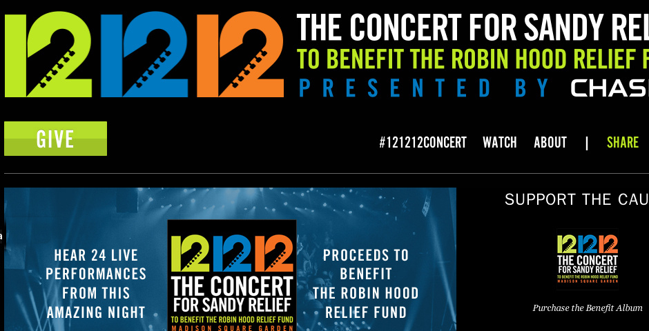 Nominee - 12-12-12 The Concert for Sandy Relief