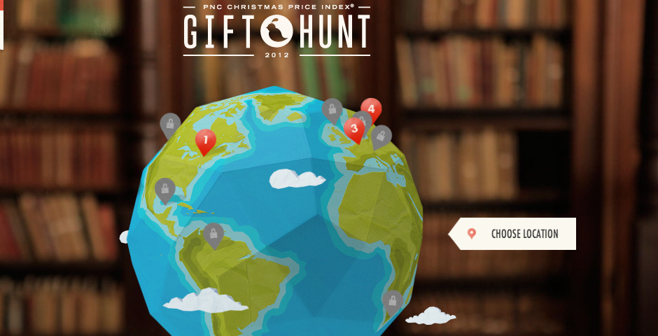 Webby Award Nominee - PNC Gift Hunt