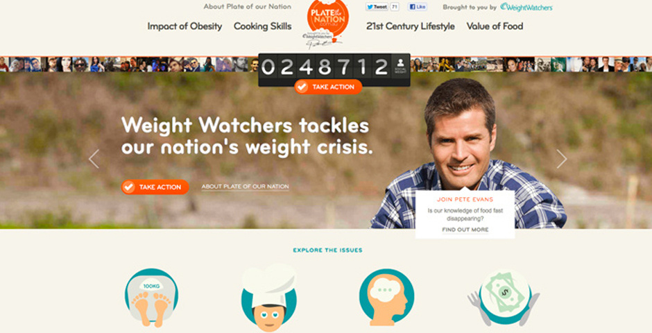Webby Award Nominee - Weight Watchers - Plate of our Nation