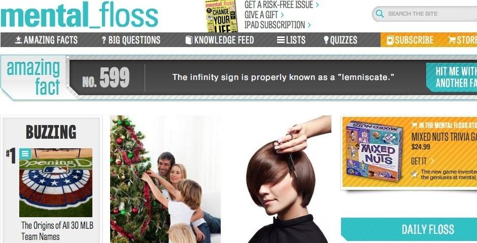 2013 Webby Winner - mental_floss