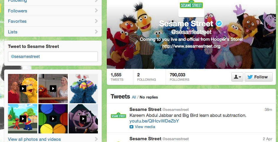 Nominee - Sesame Street