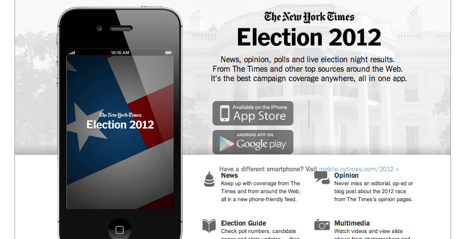 Webby Award Nominee - Election 2012