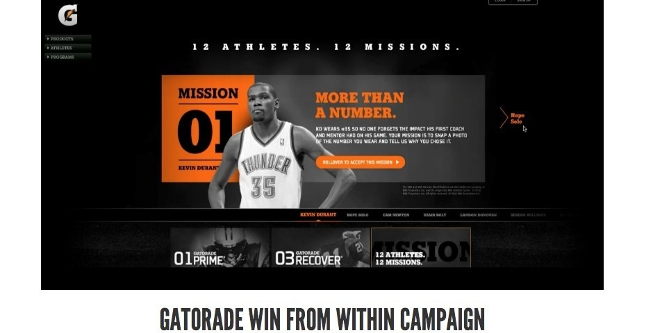 Webby Award Nominee - Gatorade Win from Within