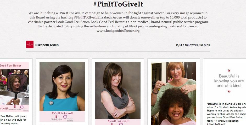 Nominee - Revolutionizing Social Good: #PinItToGiveIt with Elizabeth Arden